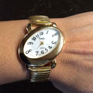 Vintage Xanadu gold stretch watch